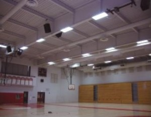 Galt High School upgraded its metal halide fixtures with T5HO linear fixtures, reducing energy consumption by nearly 50%